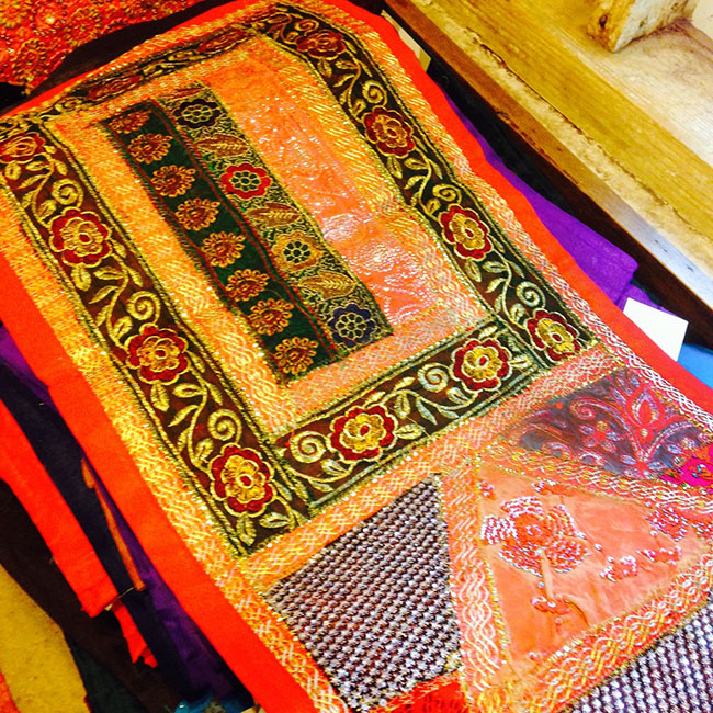 Sari patchwork wall hangings and table runners