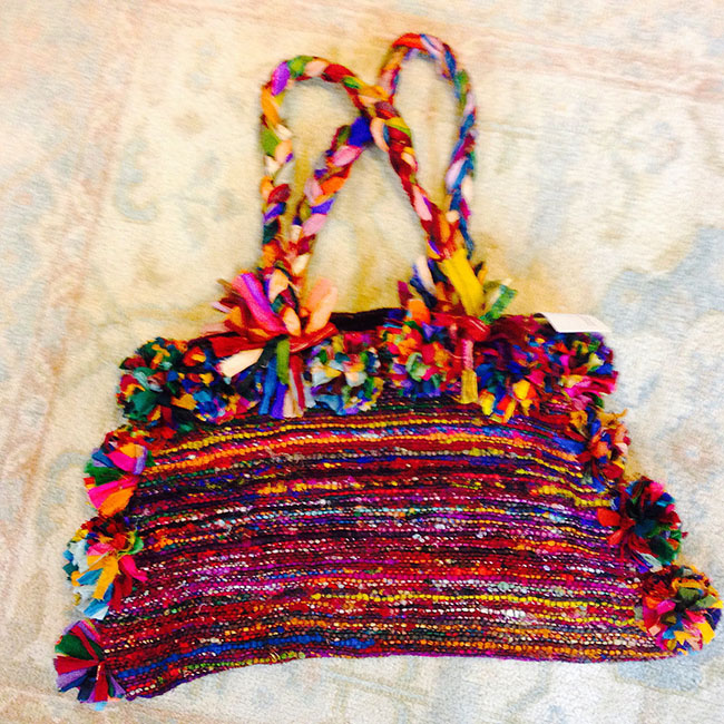Recycled Silk Sari Scraps Purse
