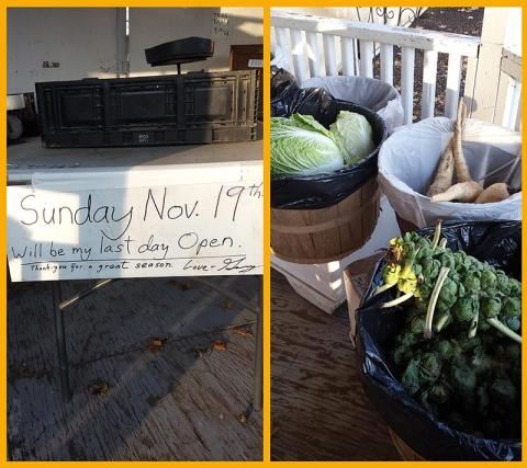 Farm Stand Season Ends Nov 19th